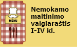 Nemokamo maitinimo valgiaraštis I-IV kl.